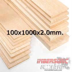 BALSA TABLA 100X1000X2.0 MM.