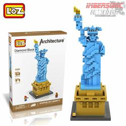 LOZ ARCHITECTURE STATUE OF LIBERTY 9387