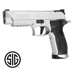 PISTOLA SIG SAUER X-FIVE PLATA CO2 4.5MM. BALINES BLOWBACK