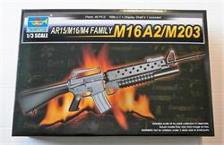 TRUMPETER AR15-M16-M4 FAMILY M16 A2-M203 Cód.01904