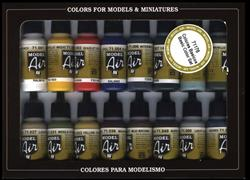 VALLEJO MODEL AIR SET BASIC COLORS 16X17ML. REF.71178