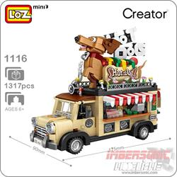 LOZ CAR MODEL HOT DOG CART 1317PZAS. REF. 1116
