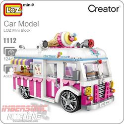 LOZ CAR MODEL ICE CREAM VAN 1244PZAS. REF.1112