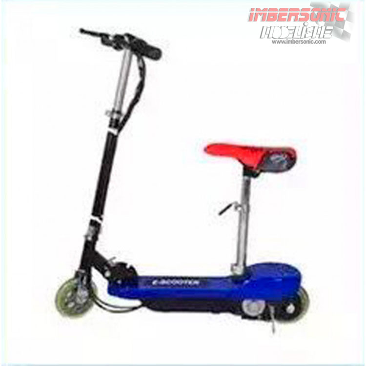 PATIN ELECTRICO INFANTIL SCOOTER AZUL CON SILLA