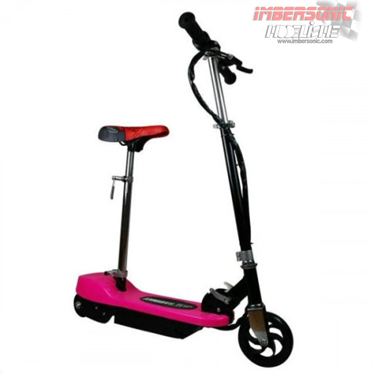 PATIN ELECTRICO INFANTIL SCOOTER ROSA CON SILLA