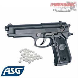 PISTOLA AIRSOFT 6MM. M92 NEGRA ASG 14760