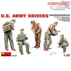 MAQUETA MINIART FIGURAS U.S. ARMY DRIVERS REF.35180