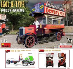 MAQUETA MINIART BUS LONDON LGOC B-TYPE ref.38021 e.1.35