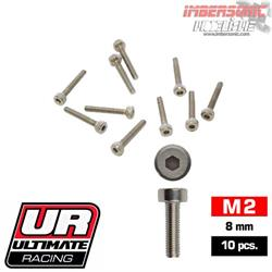 TORNILLOS ALLEN M2X8MM ULTIMATE RACING