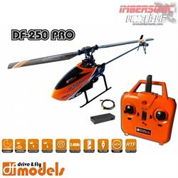 HELICOPTERO DF-250PRO 4 CANALES FLYBARLESS