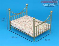 CAMA DORADA METAL DF1426 DOLL HOUSE DF1426