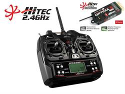 EMISORA HITEC OPTIC 6 SPORT 2.4GHZ  BAT TX+RX OPTIMA6