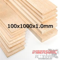 BALSA TABLA 100X1000X1.0 MM.